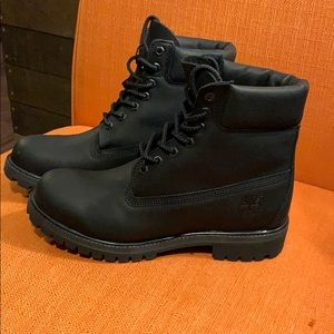 New Black Timberland Boots
